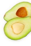 2 половины авокадоа Стоковая Фотография RF