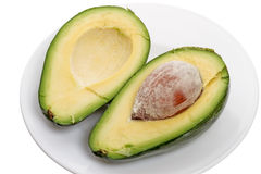 Половины авокадоа Стоковые Изображения RF