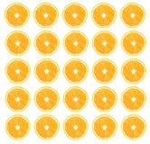 Половины апельсина на белой предпосылке Стоковые Изображения RF