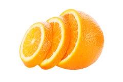 Половины апельсина на белой предпосылке Стоковое Изображение RF