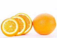 Половины апельсина на белой предпосылке Стоковая Фотография RF