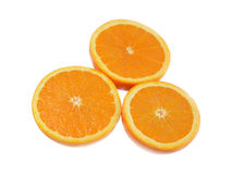 3 половины апельсина Стоковые Фото