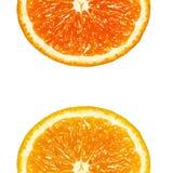 2 половины апельсина Стоковое фото RF