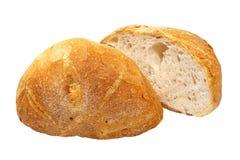2 половины аппетитного хлеба. Изолированный. Стоковое Фото