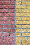 2 половины декоративной каменной стены Стоковое фото RF