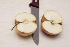 2 половины зрелого яблока Стоковые Изображения RF