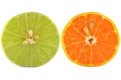 Половины известки и апельсина Стоковые Изображения RF