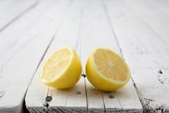 Половины лимона давая заднее Стоковое Изображение RF