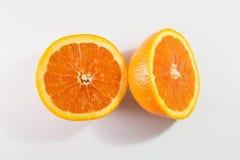 2 половины оранжевой Стоковое Изображение RF