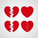 2 половины одного сердца Стоковое Изображение