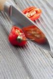 2 половины перца chili habanero Стоковые Изображения RF