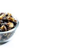 Половины предпосылки фасоли fava, зажаренной в духовке и солёной стоковые изображения