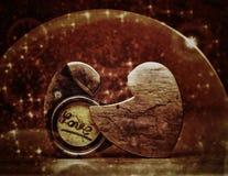 2 половины раскрытого сердца Стоковое Фото