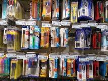 Половины ручек в супермаркете Стоковые Изображения