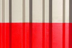 2 половины серая и красный цвет диаграммы рифлёной текстуры Стоковое Фото