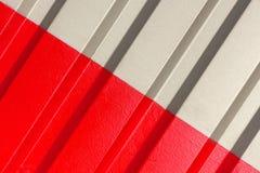 2 половины серая и красный цвет диаграммы рифлёной текстуры Стоковое Изображение RF