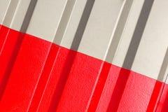 2 половины серая и красный цвет диаграммы рифлёной текстуры Стоковые Изображения