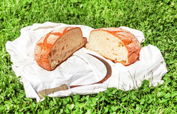 Половины хлеба и молотка Стоковое Фото