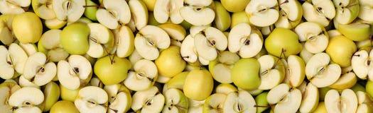 Половины Яблока Стоковое Изображение
