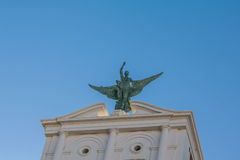Подогнали статуя в Севилье стоковые изображения rf