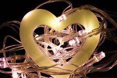 Полое сердце в гнезде Fairy светов Стоковое Изображение
