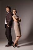 Положение бизнесмена и женщины Стоковое фото RF