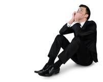 Положение бизнесмена унылое вниз Стоковое Фото