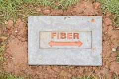 Положение врезало кабель волокна Стоковая Фотография RF
