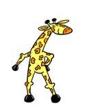 Положение жирафа шаржа Стоковые Изображения