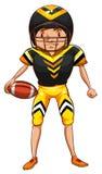 положение игрока удерживания шлема американского футбола Стоковое Изображение RF