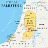 Положение карты Палестины политической иллюстрация вектора
