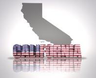 Положение Калифорнии бесплатная иллюстрация