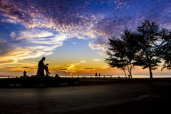 Положение обозревая пляж и Gulf of Thailand, Songkhl Стоковые Изображения RF