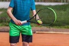 Положение подачи тенниса Стоковое Изображение RF