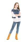 Положение подростка девушки стоковое фото rf