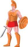 Положение ратника центуриона гладиатора римское Стоковое Изображение RF