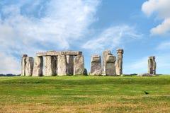 Положение Стоунхенджа доисторическое megalithic облицовывает monumen круга Стоковая Фотография RF