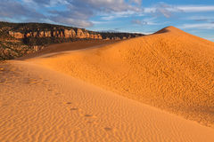 положение США Юта песка пинка парка kanab дюн коралла Стоковая Фотография RF