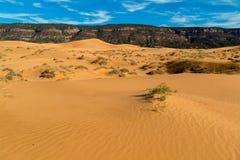 положение США Юта песка пинка парка kanab дюн коралла Стоковая Фотография