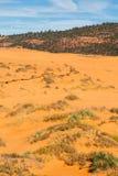 положение США Юта песка пинка парка kanab дюн коралла Стоковые Фото