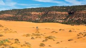 положение США Юта песка пинка парка kanab дюн коралла Стоковое Изображение RF