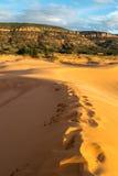 положение США Юта песка пинка парка kanab дюн коралла Стоковое фото RF