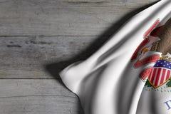 положение illinois флага Стоковая Фотография