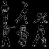 Положения бейсбола лиги молодости иллюстрация вектора