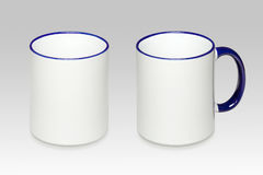 2 положения белой кружки Стоковые Фотографии RF
