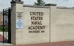 положения annapolis maryland академии военноморские соединили США стоковое изображение