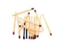 Положенные используемые matchsticks Стоковое Изображение RF