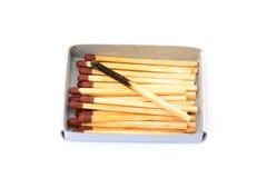 Положенные используемые matchsticks Стоковые Фото