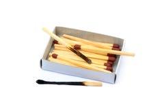 Положенные используемые matchsticks Стоковые Изображения