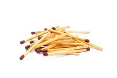 Положенные используемые matchsticks Стоковые Изображения RF